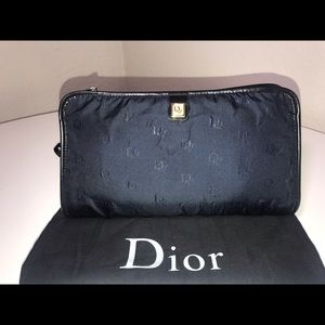 Authentic Christian Dior honeycomb trotter clutch